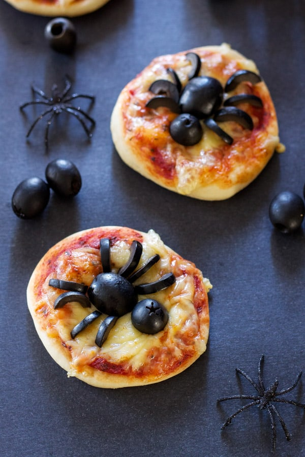 Mini Spider Pizzas