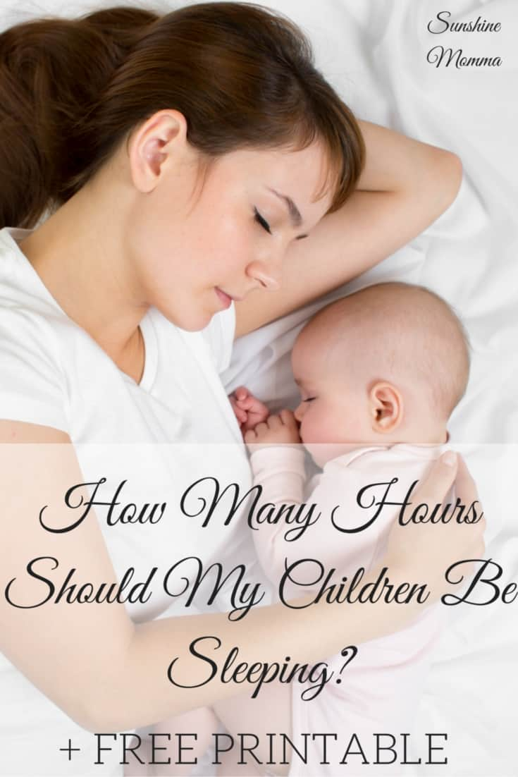 How Many Hours Should My Children Be Sleeping?