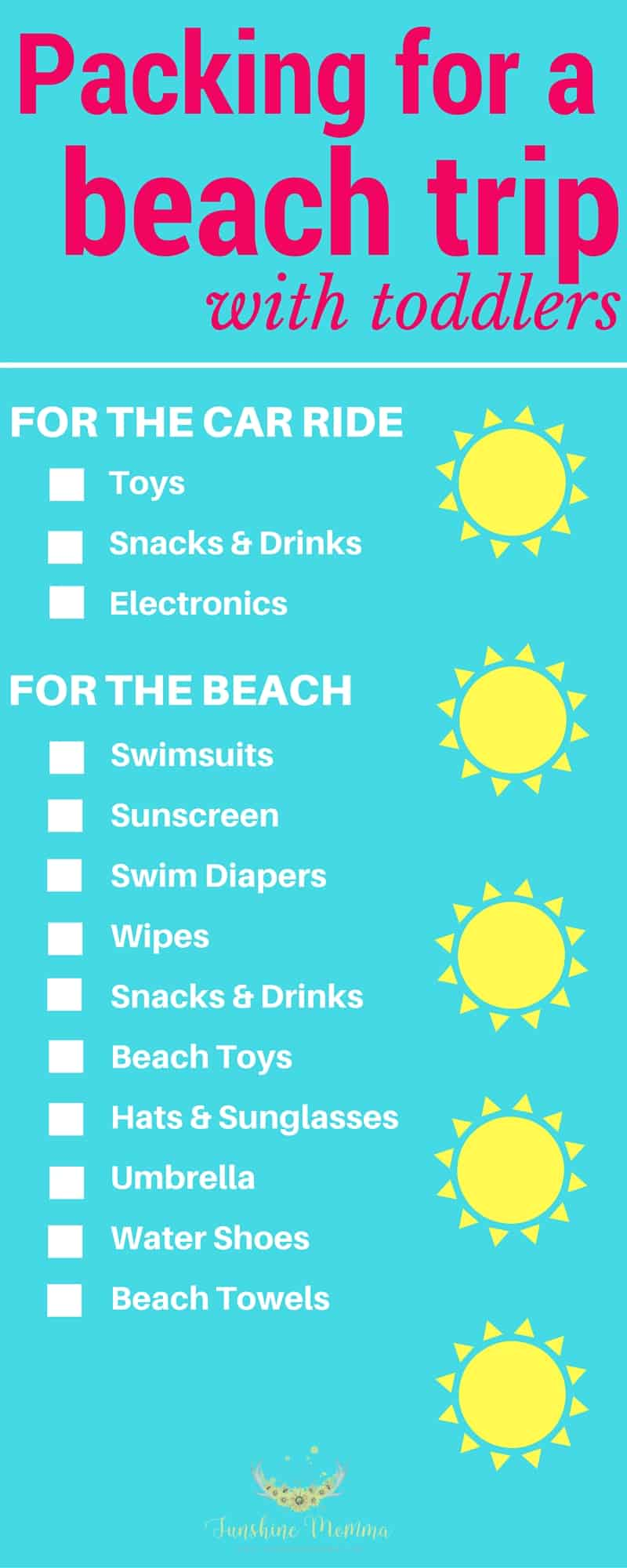 What to pack on a beach trip with toddlers
