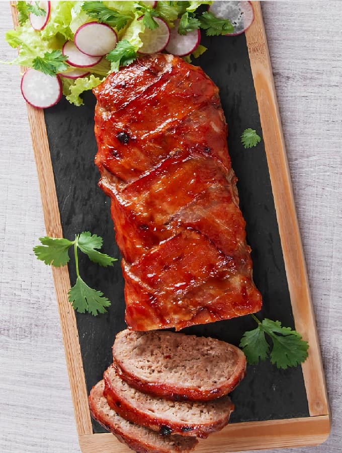Baked Bacon Wrapped Meatloaf