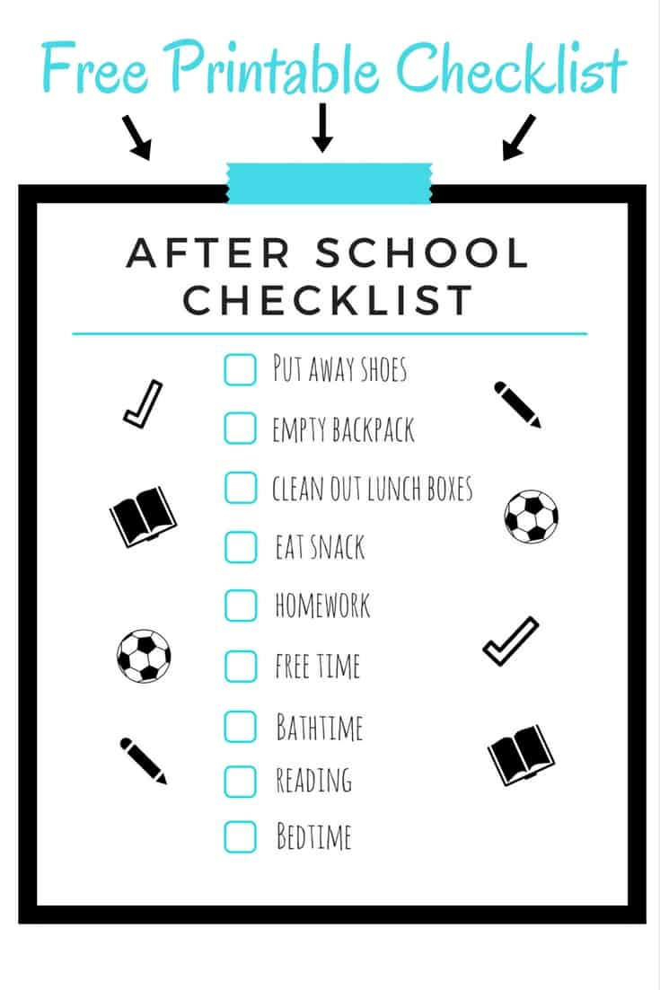 After School Schedule for Kids