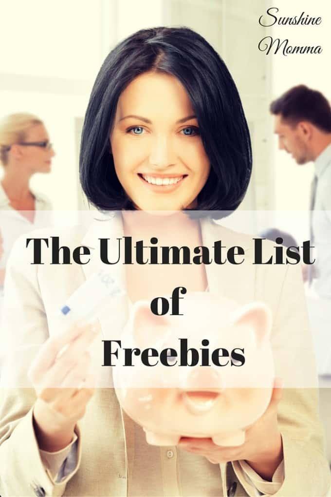 The Ultimate List of Freebies