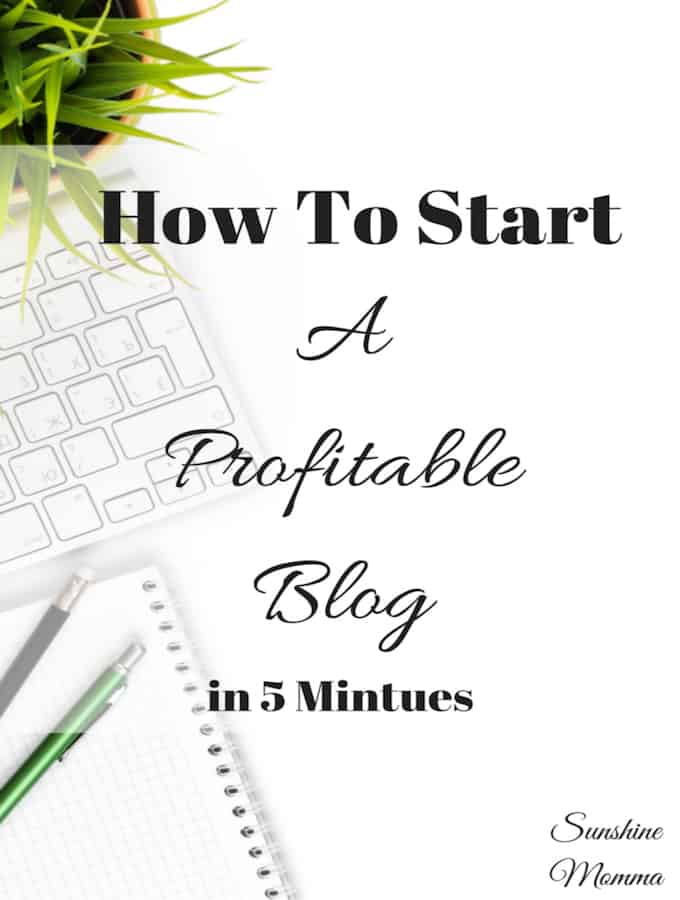 How To Start a Profitable Blog in 5 Minutes