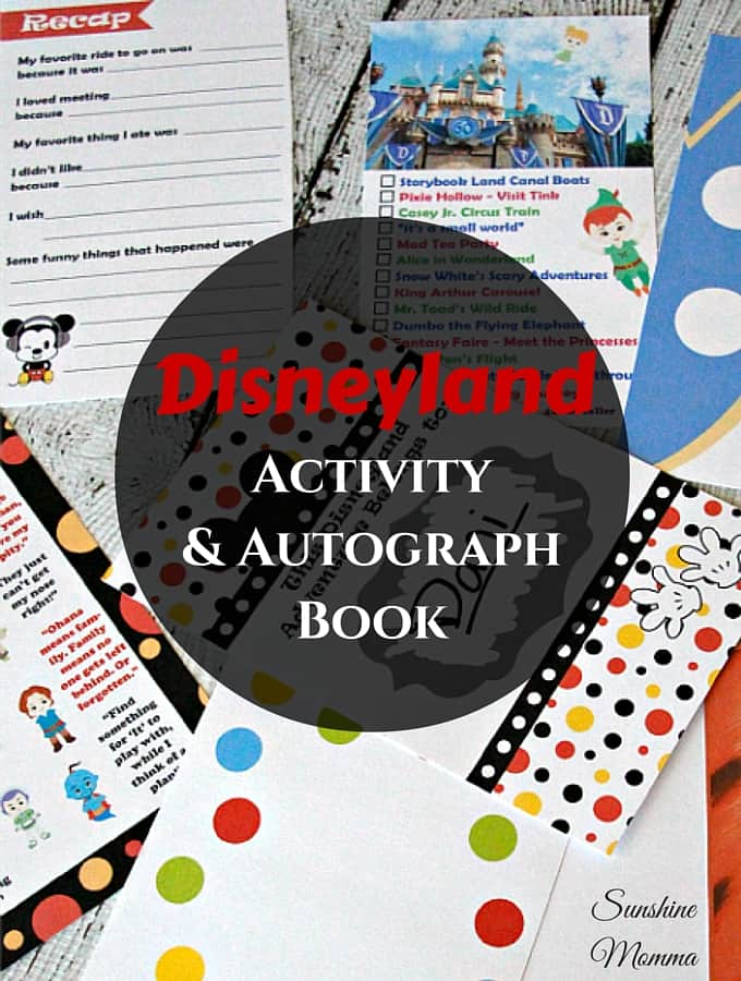 Disneyland Activity & Autograph Book