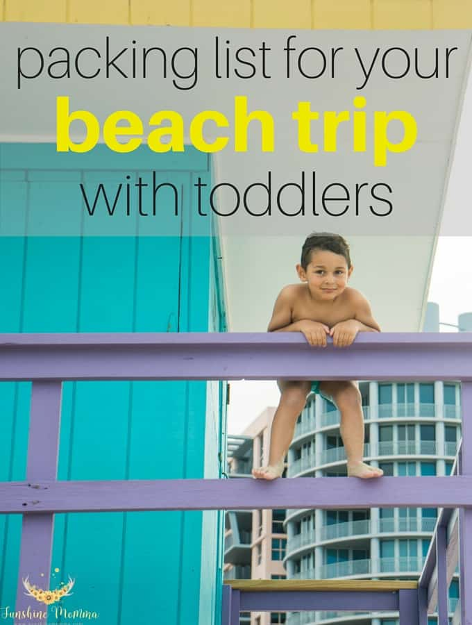 What to pack for your beach trip with toddlers