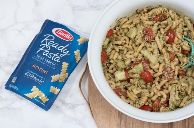 Light Pesto Pasta Salad