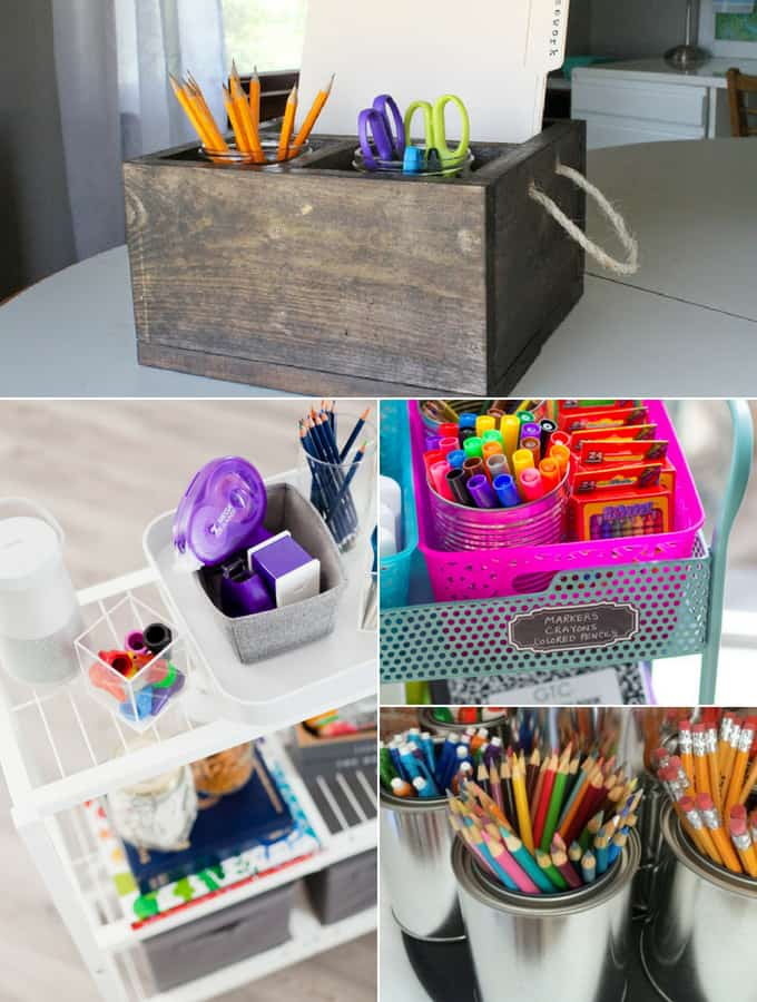 DIY Back to School Homework Stations