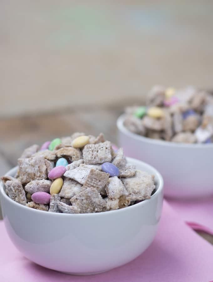 Bunny Tracks - A Spring Puppy Chow Recipe