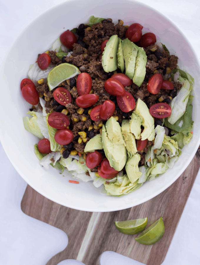 Healthy Turkey Taco Salad