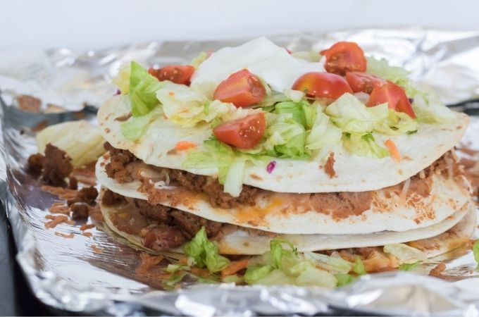 Layered Taco Bake {Taco Pie}